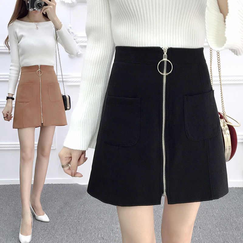b4466e6579d9 2018 office wear autumn winter skirts womens elegant pencil skirts plus  size streetwear high waist skirt