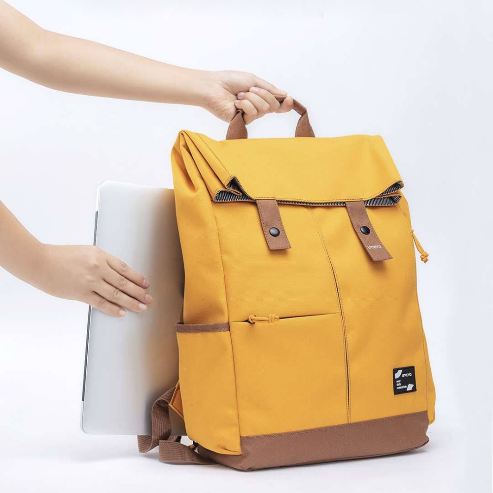 Xiaomi Urevo mochila Ipx4 repelente al agua 13L de gran capacidad mochila de las mujeres de los hombres de moda Casual 14/15 6 pulgadas bolso de la computadora - 4