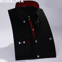 Dudalina 2017 Male Shirt 100 Cotton Mens Long Sleeve Shirt Slim Fit Sergio K Casual Shirt
