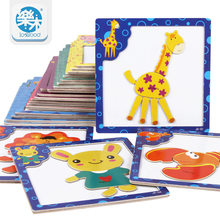 3D Magnetic wooden Puzzle jigsaw puzzle for children early education wooden toy