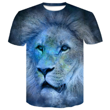 купить Men's T-shirts Fashion Animal  Lion 3D Print Hipster Funny t shirt Men Summer Casual street Hip-hop Tee shirt Male Tops M-4XL дешево