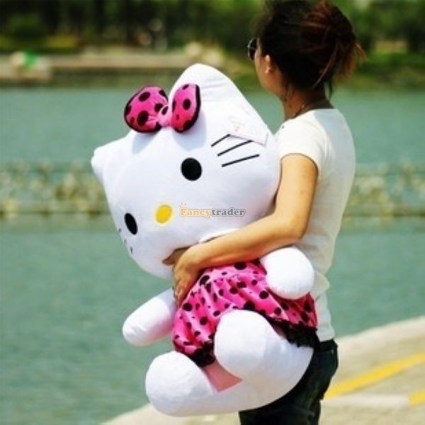 Fancytrader 28\'\' 70cm Lovely Giant Stuffed Soft Plush Big Giant Hello Kitty, 3 Colors, Free Shipping FT50759(7)