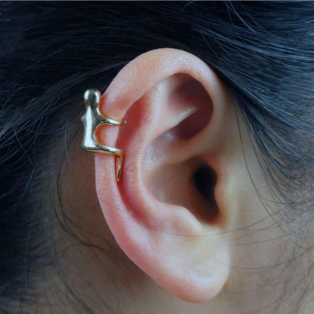 1pc Simple Ear Climber Earrings Climbing Villainous Ear Vintage Earing For Women Men Bone Folder No Pierced Ear Clip