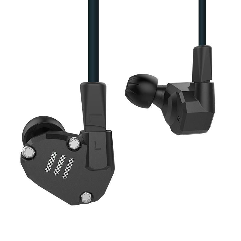 Écouteurs Extra basses haute fidélité KZ ZS6 avec micro avec câble amovible pour téléphone portable Iphone Samsung