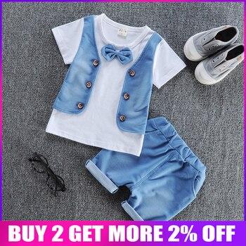971954626 BibiCola verano nuevo bebé niño ropa de algodón ropa de Material de los niños  conjunto de ropa de niño de manga corta T-Shirts + Pantalones cortos traje  de ...