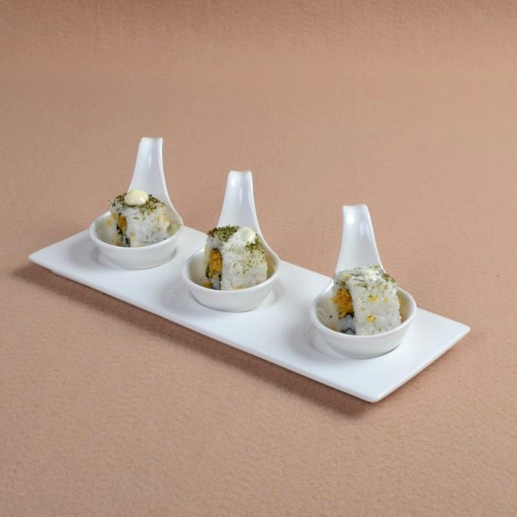 Bols d'assaisonnement décoratifs en porcelaine | Service de vaisselle aromatisé en céramique en forme de cuillère, Service de dîner pour Sauce, Ketchup et Dessert