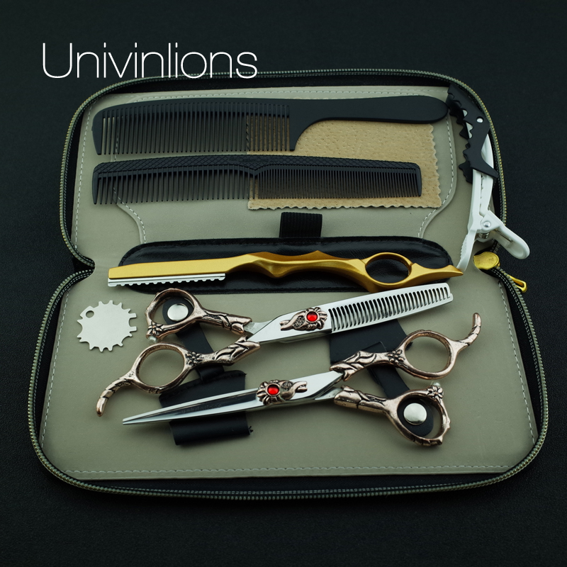6 440C barber scissors professional hair scissors hairdressing scissors salon thinning shears japanese hair cutting shears kits hx38 60 6 stainless steel barber shears salon hair cutting scissors silver 7cm blade
