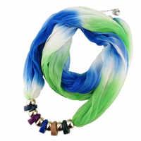 Moda étnica gargantilha colar para as mulheres resina geométrica contas declaração lenço de seda colares boêmio jóias preço por atacado