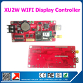 WIFI & USB display control card support P10 led display message board single dual color moving text display controller card XU2W