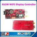 Wi-fi и USB дисплей управления поддержка карт P10 из светодиодов доска объявлений одно-dual цвет перемещение текста дисплей плата контроллера XU2W