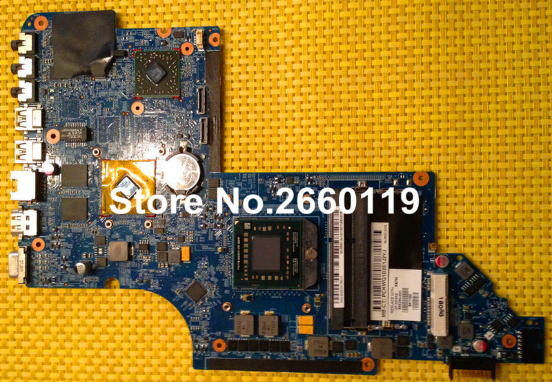 ФОТО laptop motherboard for HP DV6-6000 665280-001 system mainboard fully tested and working well