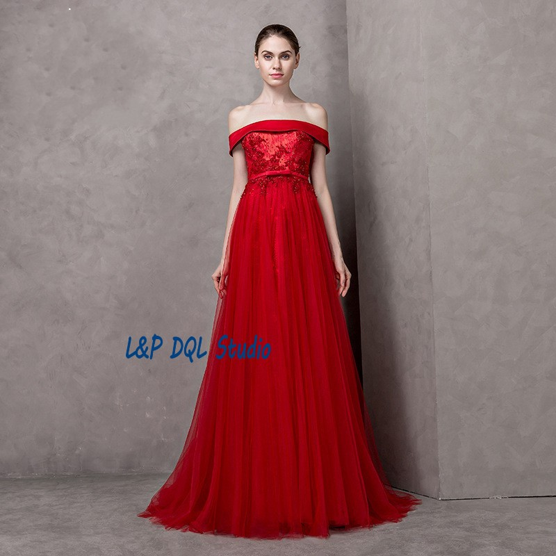 Popular Red Strapless Evening Dress-Buy Cheap Red Strapless ...