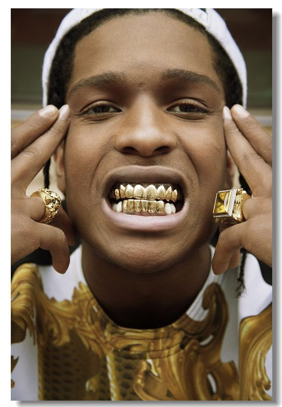 ASAP ROCKY Golden Teeth Modern Stylish Custom Fashion