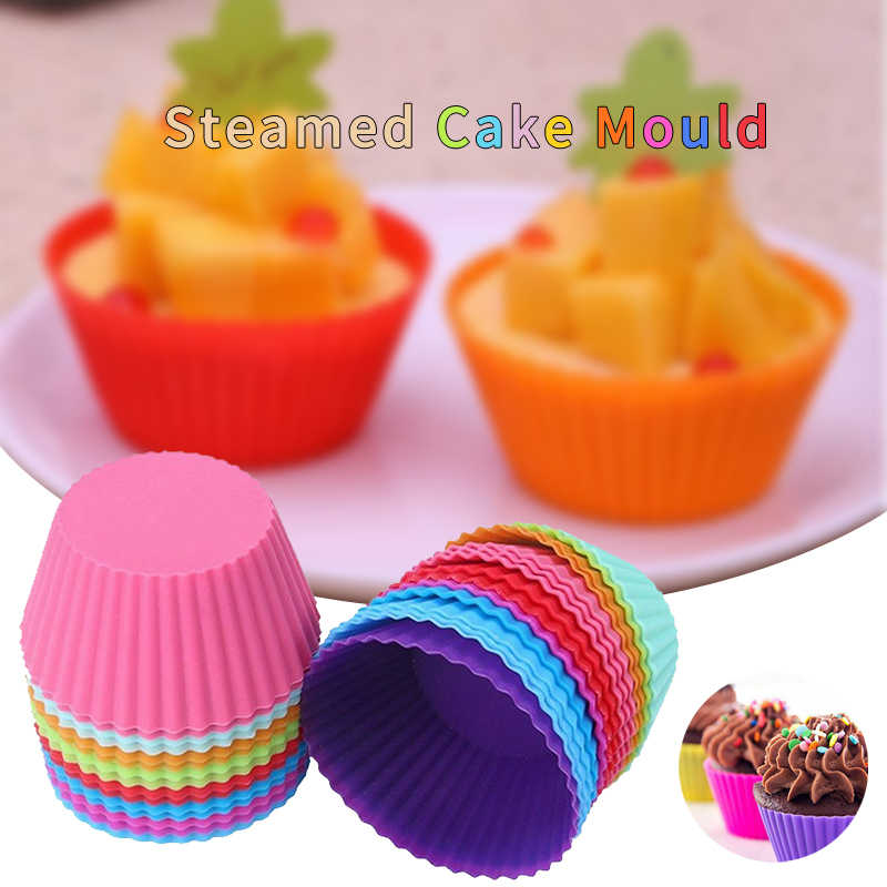 1 X New 2019 Hot Popuolar Style Set of 12 Pieces(1 Dozen) 3cm Mini Muffin Cup Round Silicone Cake Baking Moulds Cupcake Pan