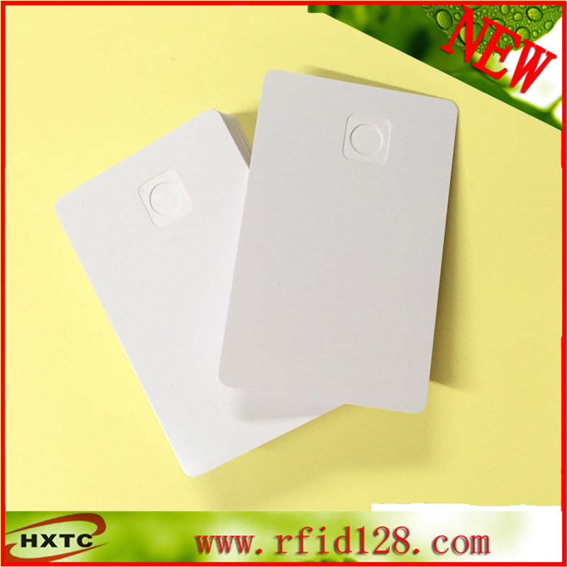 200PCS/lot  RFID No chip PVC  Blank Card With  Built-in Chip Card Slot For Zebra P330I Fargo Hdp5000 Card  Printer Free Shipping 20pcs lot contact sle4428 chip gold card with magnetic stripe pvc blank smart card purchase card 1k memory free shipping