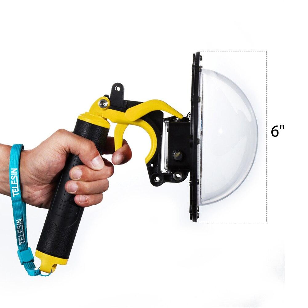 цена TELESIN DOME Port Waterproof Lens Case Cover for Shooting Photography When Scuba Diving for SJCAM SJ6/SJ7 Camera Housing