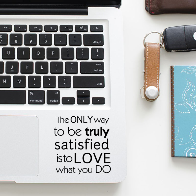 Steve Jobs Inspired Quote Laptop Trackpad Decal Sticker for Apple Macbook Pro Air Retina 11 12 13 15 inch Notebook Touchpad Skin