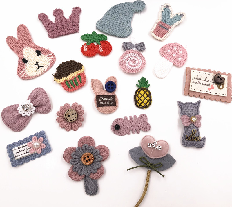 US $0 99 |9piece/card Stitch patch Mending holes creative lovely clothing  fabric patch decorative embroidery DIY accessories-in Patches from Home &