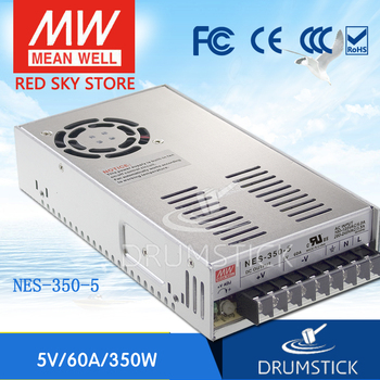 Steady MEAN WELL NES-350-5 5V 60A meanwell NES-350 300W Single Output Switching Power Supply [powernex] mean well original hvgc 150 1400b 12 107v 1400ma meanwell hvgc 150 149 8w led driver power supply b type