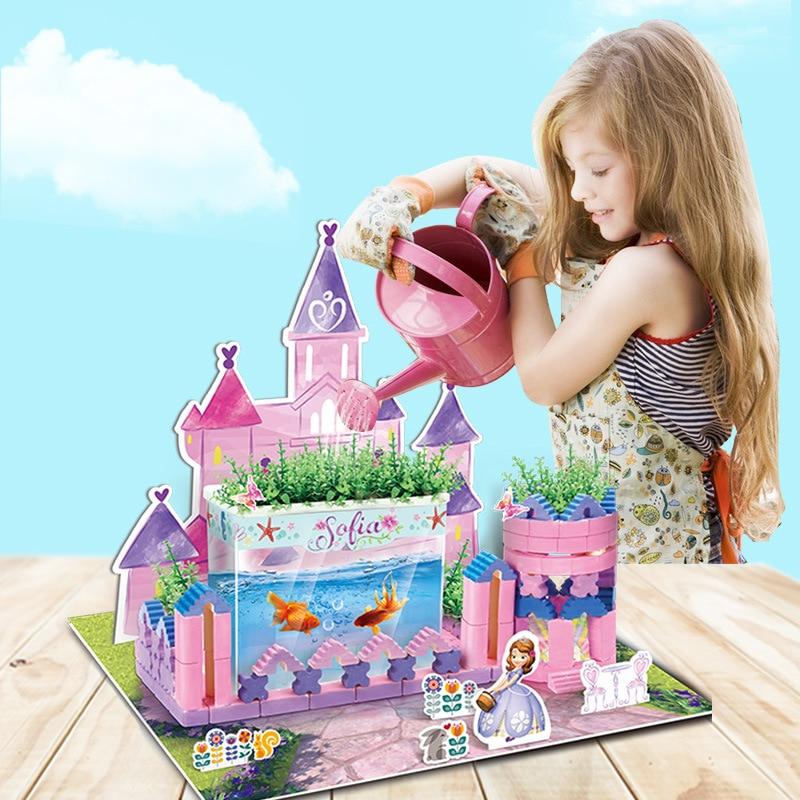 Disney Puzzles Jeux 3D scène fun main château enfants de BRICOLAGE couture jouets Cadeau pour les enfants jouets pour enfants