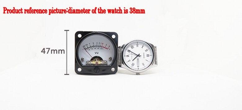 Image 5 - 2pcs 45mm Big VU Meter Stereo Audio Amplifier Board level Indicator Adjustable With DriverAmplifier