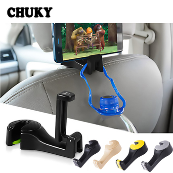CHUKY Car Back Seat Multifunction Mobile Phone Frame Sundries Storage Hook For BMW E39 E90 E60 Toyota Corolla Nissan Qashqai J11 image