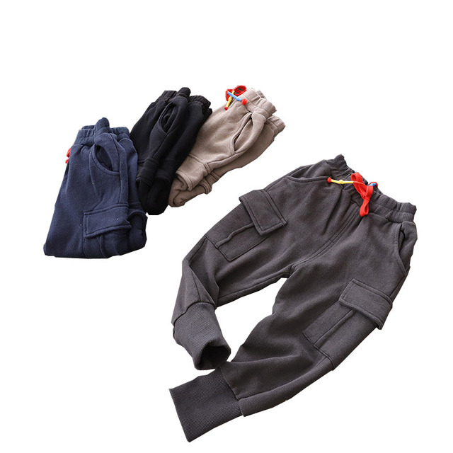 SQBCMW 2018 Boys spring autumn trousers children pants for baby boys pants kids Harem Pants fashion solid blue grey