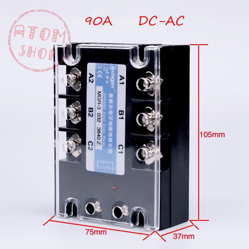 Three-phase solid state relay DC -AC MRSSR-3 MGR-3 032 3890Z 90A genuine three phase solid state relay mgr 3 032 3880z dc ac dc control ac 80a