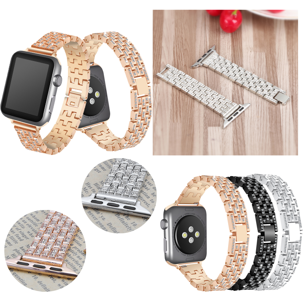 Joyozy für Frauen Kristall Strass Diamant Uhrenarmbänder Edelstahl Armband Armband Für iwatch Apple Uhrenarmbänder 38/42mm