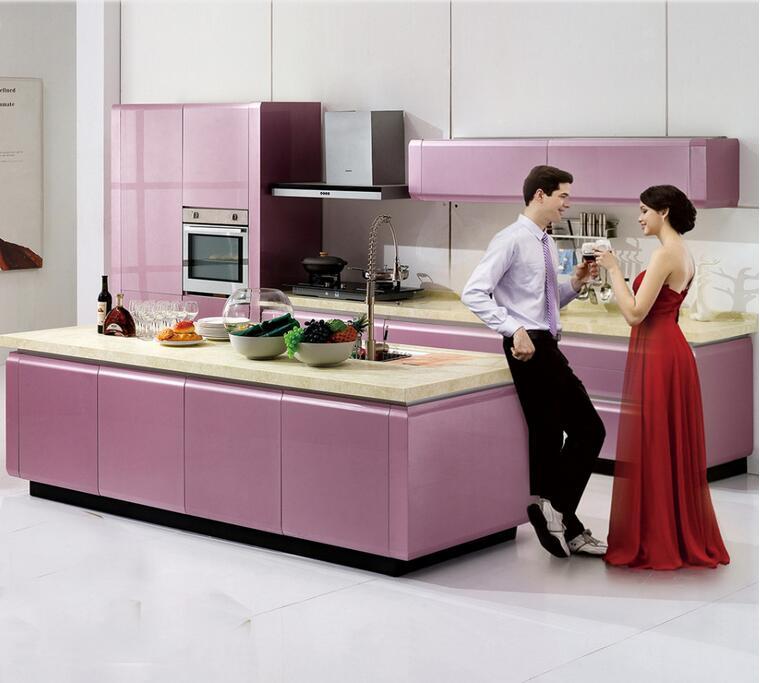 Linkok Muebles modulares de cocina precios de fábrica nueva laca de ...