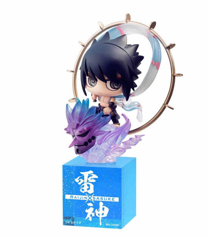 8.5-10 CENTÍMETROS figura anime Japonês Naruto Uchiha Sasuke Q versão action figure collectible modelo brinquedos para meninos