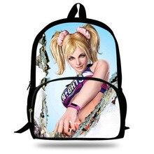 Cartoon Lollipop Chainsaw Print Backpack Teenager Girls School Bags Children School Josey Backpack Student Book Bag Kids Gift