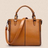 2017 New Fashion Women Handbag High Quality PU Patchwork Female Shouler Bag Black Blue Red Brown