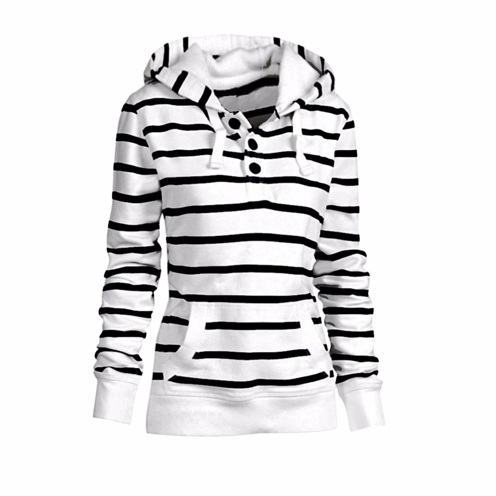 ᐅModa mujer bolsillo delgado con capucha de manga larga sudadera ...