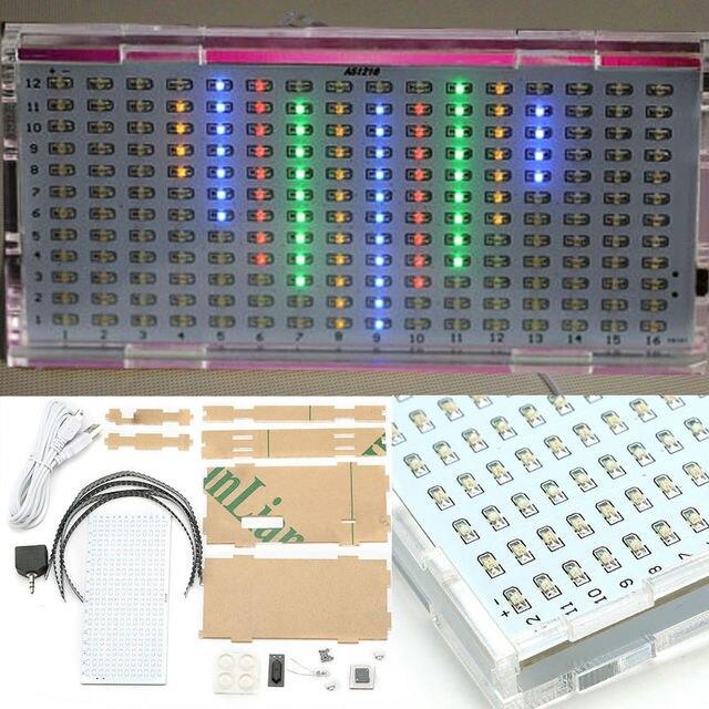 AS1216 Crystal Castle Music Spectrum Display  Flashing DIY Kit Audio Spectrum