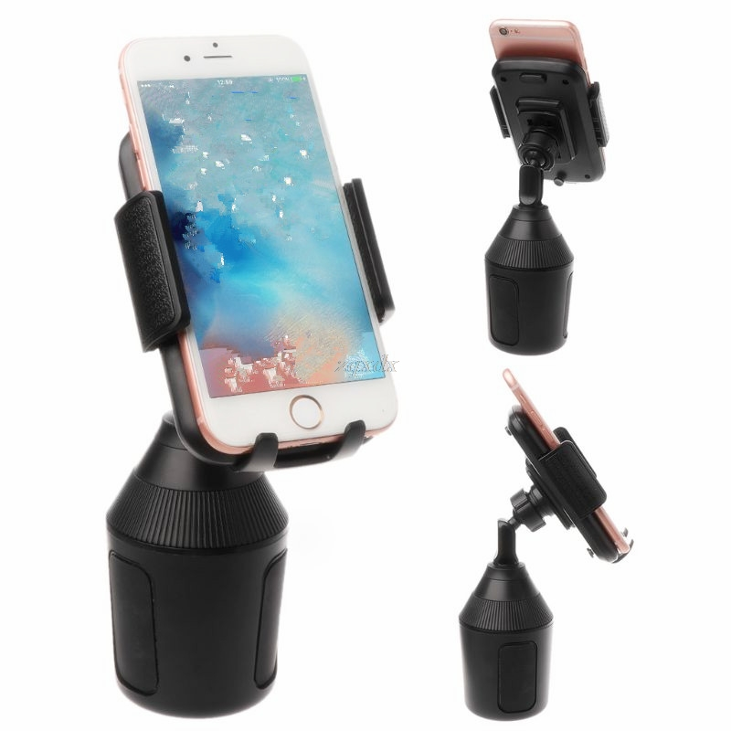 Universal Car Cup Mount Phone Holder Stand Cradle for Apple iPhone Samsung Xiaomi 3.5 to 6.5 inch forAndroid Smartphone Feb28 image