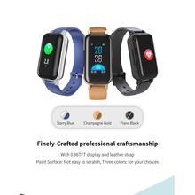 все цены на T89 Dual Bluetooth 5.0 TWS Earphone Smart Bracelet Heart Rate Blood Pressure Tracker Smart Watch Men For IOS Android Phones онлайн