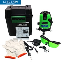 Outdoor Mode Laser Level 5 Green Beams 360 Degree Rotary Slope Functional Self-Leveling 4V 1H Line