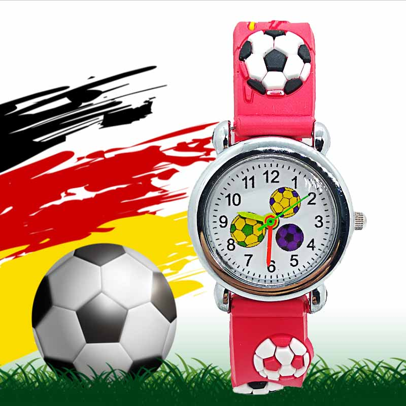3D Cartoon Football World Theme Kids Watch Children For Kid Girls Boys Student Clock Child Quartz Wristwatches Relogio Kol Saati