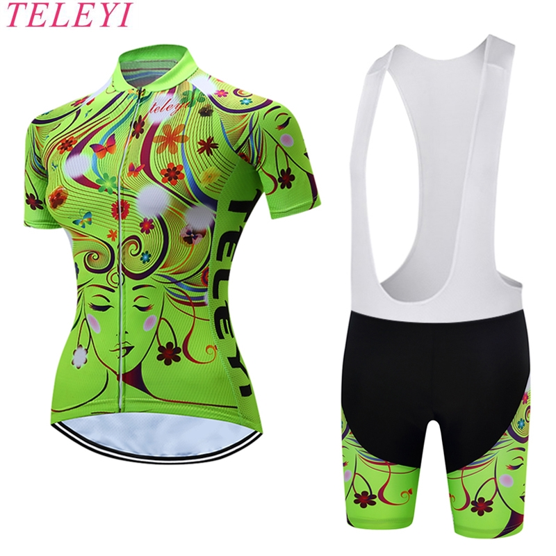 2017 Black Pink Pro Cycling jersey Set Women Bike clothing clothes Girl Ropa Ciclismo MTB bicycle jersey Top Bib Padded Shorts