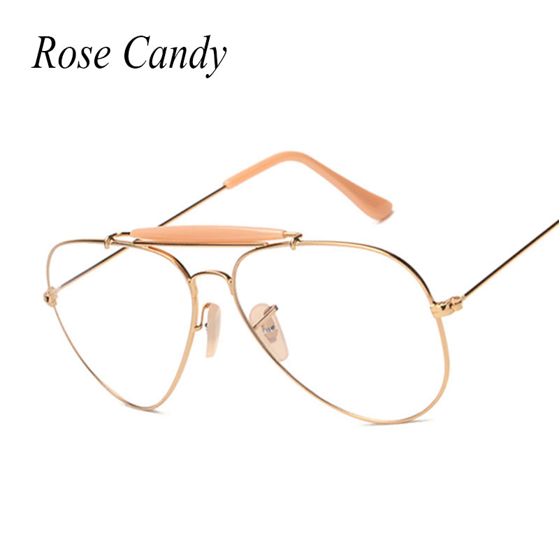 0d48801078 Clear lens Sunglasses Women Brand Designer Men Metal Frame Sun Glasses  Polit Optical transparency Frame Victorylip Fashion