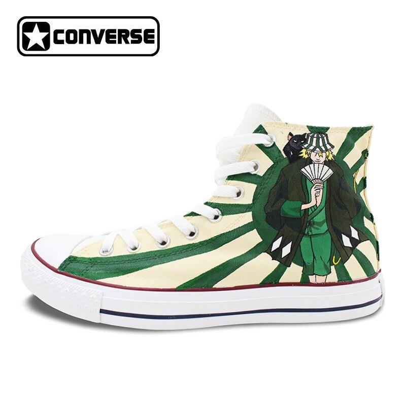 b86d9fdfcf51 Tienda Online Cool Anime Bleach Urahara Kisuke alto Converse All Star  Hombre Mujer Zapatos diseño pintado a mano Zapatos hombre mujer Zapatillas  regalos ...