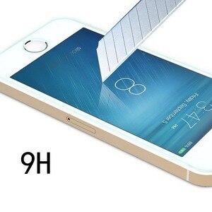 Image 3 - 2 ADET = Ön + Arka Premium Temperli Cam iPhone 5 5 S SE için Anti scratch 9 H 0.26mm 2.5D Ekran Koruyucu Film için iPhone 5 s SE