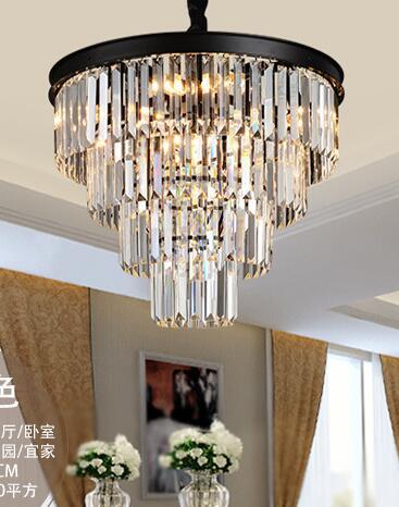Винтажный стеклянный хрустальный светильник люстра, светильник черного цвета, американский подвесной светильник, подвесной светильник дл