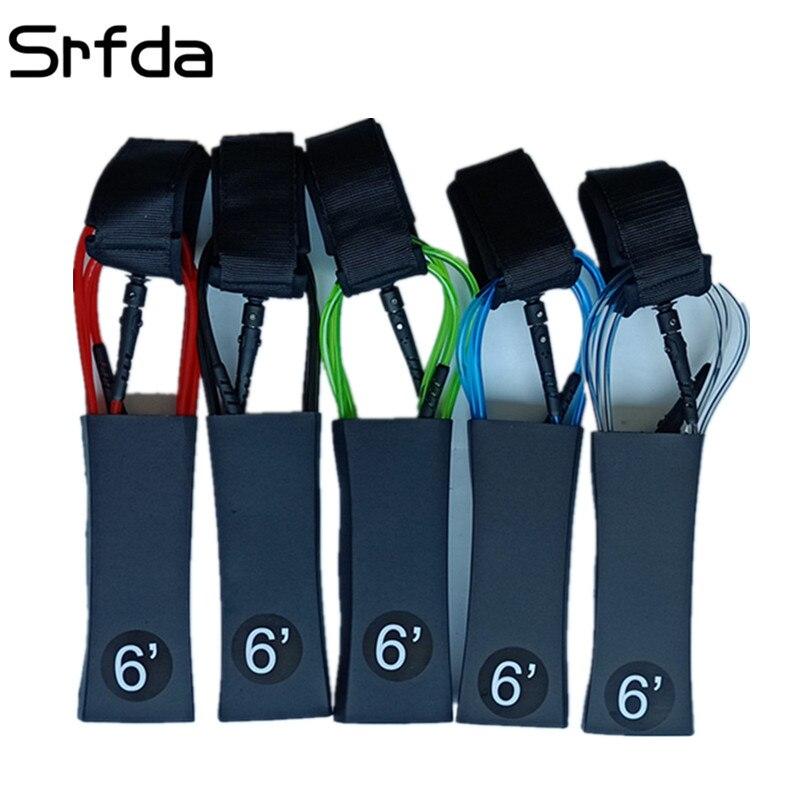 Srfda 6 Füße 7mm Dicke Surf Leine Surfen Surfbrett sup leine Seil Stand up paddle Board mit Polyurethan Nylon edelstahl