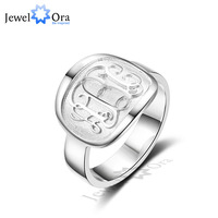 3 Color Personalized Engrave Jewelry 925 Sterling Silver Monogram Name Ring Best Christmas Gift For Friends (JewelOra RI102309)