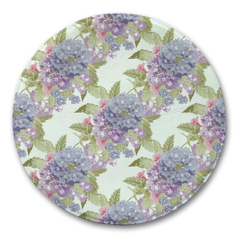 Floral Pattern Carpet Rug Fluffy Floor Mat Bathroom Mat Round Carpet Purple Kitchen Rug Home Door mat Carpets for Kids Room