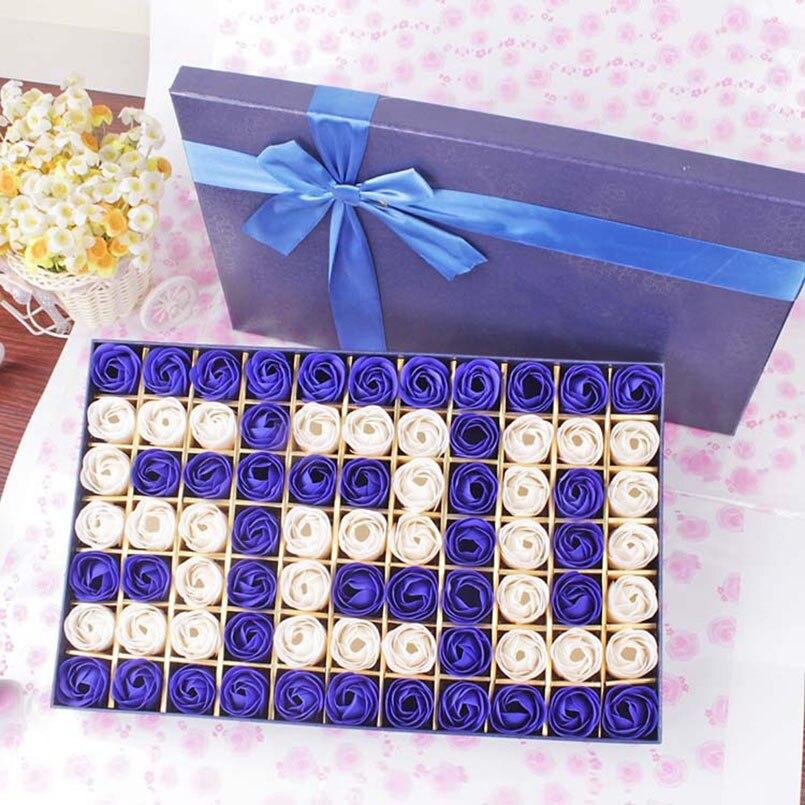 Nouveau 77 pièces Rose savon fleur cadeau boîte saint valentin présent cadeaux Premium cadeaux d'anniversaire faveurs de mariage et cadeaux pour les invités