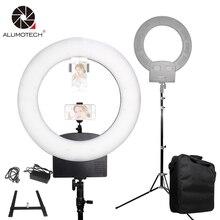 """18 """"3200 k ~ 5600 k Stepless Escurecimento 48 w LED Ring Light + Bateria Monte + Bag + suporte Para Vídeo Estúdio Equipamento de Fotografia do Filme Selfie"""