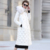Estilo europeo x-largo Sólido de Alta Calidad de Las Mujeres Abajo Chaqueta de Invierno 2017 Nuevo Cuello de Piel Con Capucha de Invierno abrigos Mujer Y2216